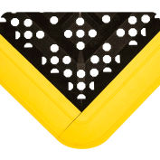 Wearwell FIT Kit Open Grid Black w/Yellow Edging, 5/8in x 2ft 3in x 2ft 6in