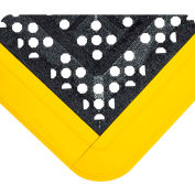 Wearwell FIT Kit Gritted Black w/Yellow Edging, 5/8in x 3ft 3in x 5ft 6in