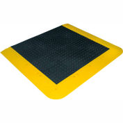 Wearwell ErgoDeck No-Slip Solid Kit, 7/8in Thick, 66 x 42, Black