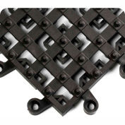 """Wearwell® ErgoDeck® Integrated Open Cleats 7/8"""" Thick 1.5' x 1.5' Black"""