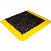 "Wearwell® ErgoDeck® No-Slip Open Kit 7/8"" Thick 5.5' x 3.5' Black/Yellow Border"