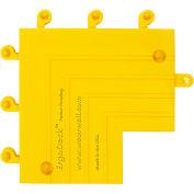 "Wearwell® ErgoDeck® Heavy Duty Inside Corner 7/8"" Thick 9"" x 9"" Yellow"