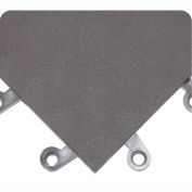 Wearwell ErgoDeck Smooth Solid, 7/8in Thick, 18 x 18, Charcoal