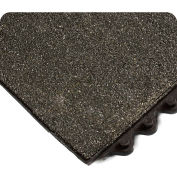 """Wearwell® 24/Seven Solid CFR w/Gritshield Anti-Fatigue Mat, 5/8"""" Thk, 3'X3', Solid Tile, Blk"""
