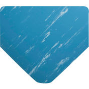 """Wearwell® Smooth Military Switchboard Mat Type I, 1/8""""Thick, 3'W Full 75' Roll, Marbleized Blue"""