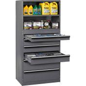 "Tennsco étagère tiroir armoire A1-6-48-75-MGY - tiroir tiroir 6 48 x 24 x 75 H»: (1) 4""(3) 6""; (2) 10"""