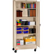 "Tennsco Mobile Deluxe Storage Cabinet CK1870-SND - Unassembled 36""W X 18""D X 78-3/4"" H, Sand"
