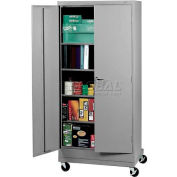 """Tennsco Mobile Deluxe Storage Cabinet CK1870-CPY - Unassembled 36""""W X 18""""D X 78-3/4"""" H, Putty"""