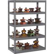 "Global Industrial™ Boltless Heavy Duty Die Rack - 48""W x 24""D x 72""H - 5 Shelves - Medium Gray"