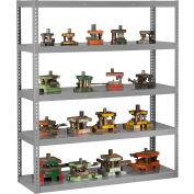 "Global Industrial™ Boltless Heavy Duty Die Rack - 72""W x 24""D x 72""H - 5 Shelves - Medium Gray"