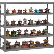 "Global Industrial™ Boltless Heavy Duty Die Rack - 96""W x 36""D x 84""H - 5 Shelves - Medium Gray"