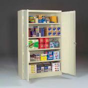 "Tennsco Jumbo Storage Cabinet J2478SU-SND - Welded 48""W x 24""D x 78""H Sand"