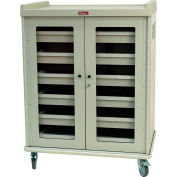 Harloff Intraocular Lens Storage Cart 6 Drawer 924 Lens Cap. Sand with Steel Doors - IOL924
