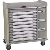 Harloff Standard Line Med-Bin Medication Cart 34 Patient Bin Drawers, Sand - SL36BIN5