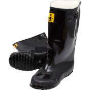 Latex noir sur la botte de neige fondante chaussure, taille 7