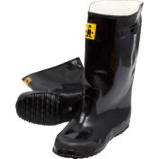 Black Latex Over the Shoe Slush Boot, Size 11