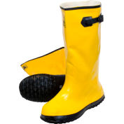 Yellow Latex Over the Shoe Slush Boot, Size 8