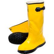 Yellow Latex Over the Shoe Slush Boot, Size 10