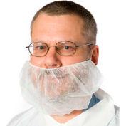 Housses de barbe, polypropylène, blanc, 1000/caisse