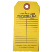 First Voice™ AED Inspection Tags, 10/Pack