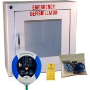 First Voice™ HeartSine Samaritan® AED Package with Prescription & Mounting Cabinet