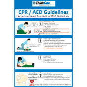 """First Voice™ CPR/AED Poster Set, 11"""" X 17"""", 2/Pack"""