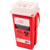 First Voice™ 2 Quart Sharps Container with OSHA Compliant Blood Borne Pathogen Training