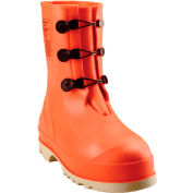 Tingley® 82330 HazProof® Steel Toe Boots, Orange/Cream, Sure Grip Outsole, Size 10