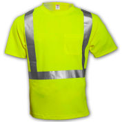 Tingley® S75022 Class 2 Short Sleeve T-Shirt, Fluorescent Yellow, 5XL