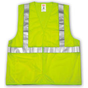 Tingley® V70622 Job Sight™ Class 2 Vest, Fluorescent Lime, Polyester Mesh, 2XL/3XL