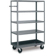 Tri-Boro 5 Shelf Mobile Shelf Truck MST2442 20 Gauge Steel 42 X 24, 1000 Lb. Cap.