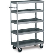 Tri-Boro 5 Shelf Mobile Shelf Truck MST2460TS Steel 60 x 24, 1000 Lb. Cap.
