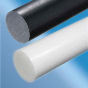 AIN plastiques extrudées en Nylon tige en plastique 6/6 Stock, 3/4 en. Ø x 24. L, noir