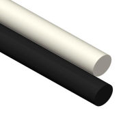 AIN plastique UHMW baguette en plastique Stock, 10 po. Ø x 120. L, noir