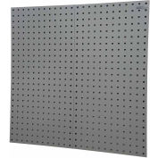 "LocBoard® 18""W x 9/16""D x 36""H, 18 Gauge Steel Square Hole Pegboards - Gray"