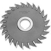 "HSS Import Plain Teeth Side Milling Cutter, 4"" DIA x 7/16"" Face x 1"" Hole"