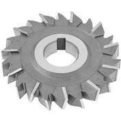 "HSS Import Staggered Tooth Side Milling Cutter, 4"" DIA x 7/16"" Face x 1"" Hole x 18 Teeth"