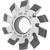 HSS Imported Involute Gear Cutters, 20 ° Pressure Angle , Metric, Module M3.5 #8