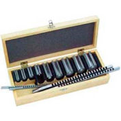 Rainure de clavette broche Set # 10, collier, 10 combinaisons, 2 broches + 5 Coll.Bushings