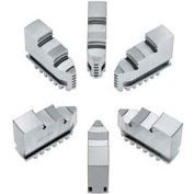 """Bison Hard Solid OD Jaws for 12"""" 6-Jaw Scroll Chuck, 6 Piece Set"""