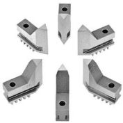 "Bison Hard Solid Jaws for 5"" Quick Clamping Chuck, 6 Piece Set"