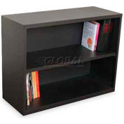 "Ensemble Two Shelf Bookcase, 36""W x 14D x 27H - Dark Neutral"