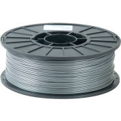 Toner Plastics Premium 3D Printer Filament, PLA, 1 kg, 3 mm, Silver