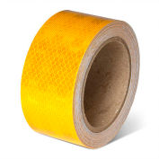 """INCOM School Bus Conspicuity Reflective Tape, 2""""W x 150'L, Yellow, Roll"""