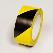 "Hazard Marking Tape, Yellow/Black Stripes, 4""W x 108'L Roll, WT2140"
