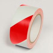 """Risque de marquage bande, bandes rouge/blanc, 2"""" W x 108' L rouleau, WT2200"""