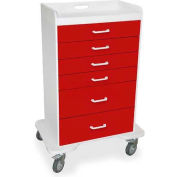 "TrippNT™ 51072 Locking 6 Drawer Procedure Cart, Cherry Red, 31""W x 20""D x 48""H"
