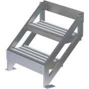 """Système d'accès multi-plateformes configurable U-Design-échelle d'escalier 2 étapes 27 """"H 45 degrés-MPASSW3"""