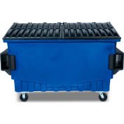 Toter 2 Cubic Yard Front Loading Dumpster W/ Bumpers, Blue - FR020-00705