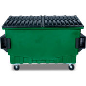 Toter 2 Cubic Yard Front Loading Dumpster W/ Bumpers, Waste Green - FR020-00925
